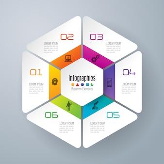 6 шагов бизнес-инфографические элементы для презентации