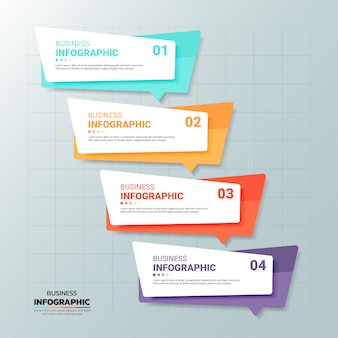 Инфографика баннер шаблон 6 вариантов