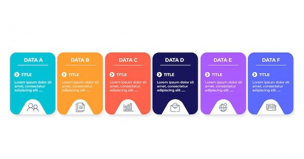 Бизнес инфографики с 6 вариантами
