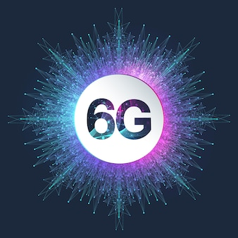 6g network wireless systems and internet vector illustration. communication network. business concept banner. artificial intelligence and machine learning concept banner.