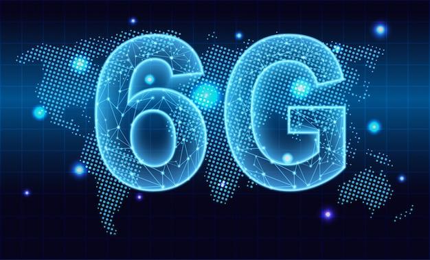 6g новый беспроводной интернет wi-fi соединение. технологический фон.