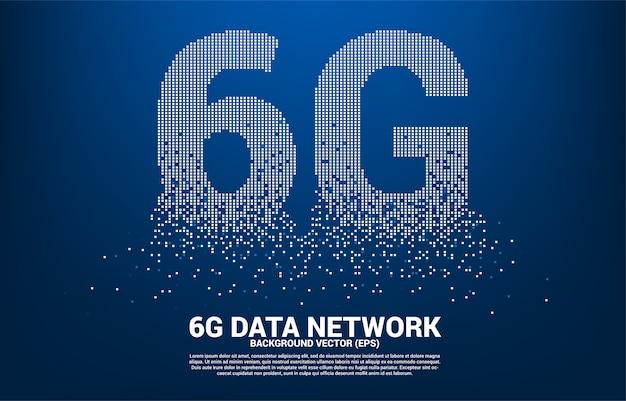 Мобильная сеть 6g с небольшого квадратного пикселя.