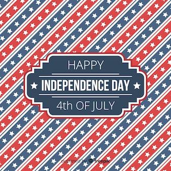 7月4日 - 独立記念日の背景のフラット4