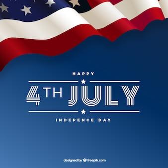 アメリカの要素を持つ7月4日の背景