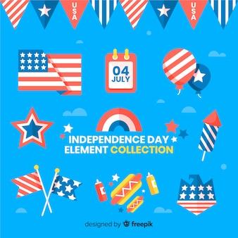 7月4日 - 独立記念日の要素のコレクション