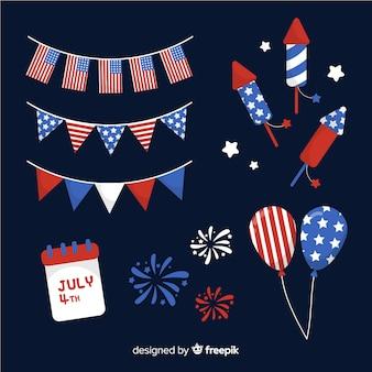 7月4日 - 独立記念日エレメントコレクション