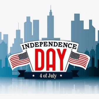 アメリカのデザイン独立記念日7月4日