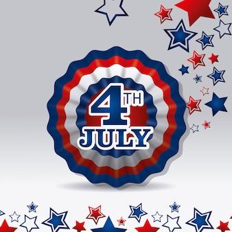 独立記念日7月4日アメリカのデザイン
