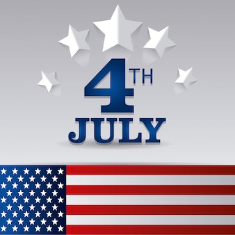 ハッピー独立記念日7月4日米国デザイン