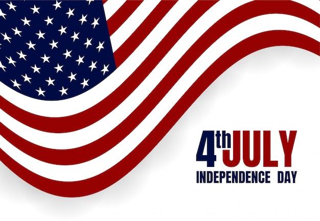 ハッピーアメリカ独立記念日7月4日。旗