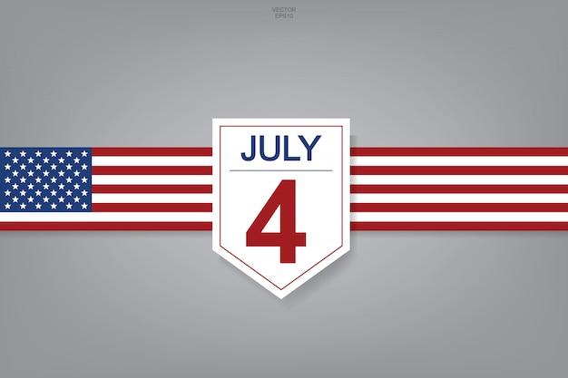 7月4日 - 米国の抽象的な背景の記号とシンボル。