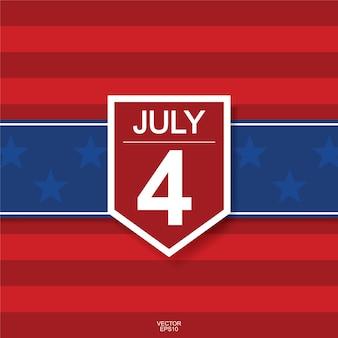 7月4日 - 米国(米国)独立記念日の背景。