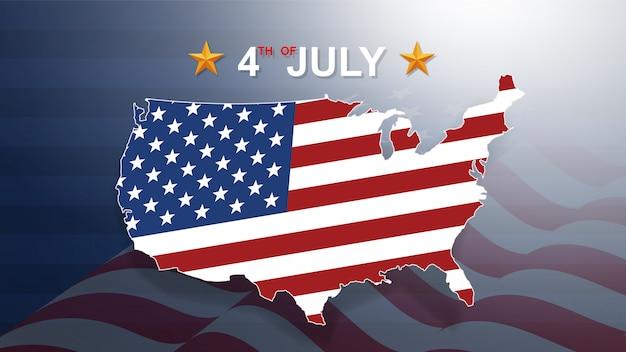 米国(米国)独立記念日の7月4日の背景。
