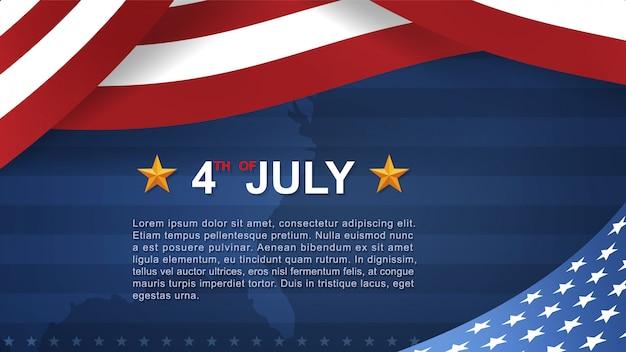 7月4日のアメリカ独立記念日の背景。