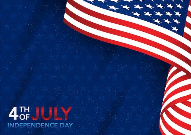 アメリカの国旗と7月4日の独立記念日