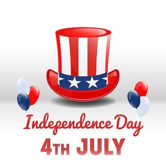 アメリカ独立記念日。 7月4日のアメリカの祝日。独立記念日の背景。ベクトル図