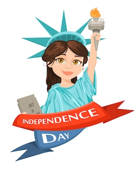 自由の女神。 7月4日独立記念日