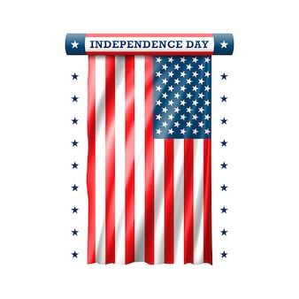 独立記念日7月4日。