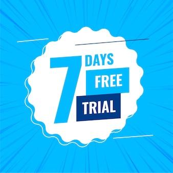 7 일 또는 일주일 무료 평가판 배너