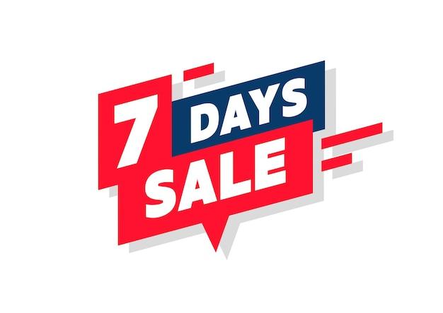 7 days sale promotion banner.