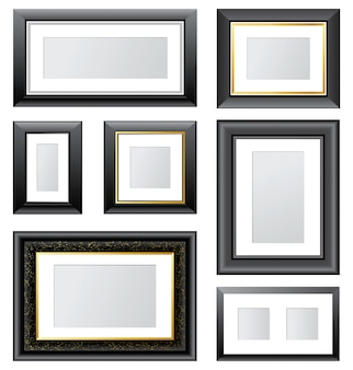 7 vector picture frames