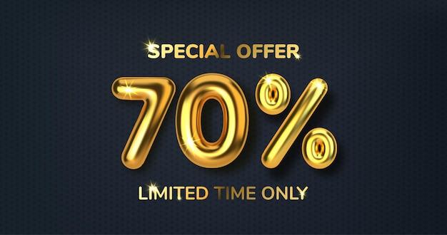 Скидка 70 со скидкой на распродажу из реалистичных 3d золотых шаров номер в виде золотых шаров