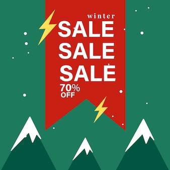 70% off sale badge vector