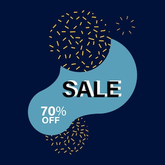 70% off sale badge