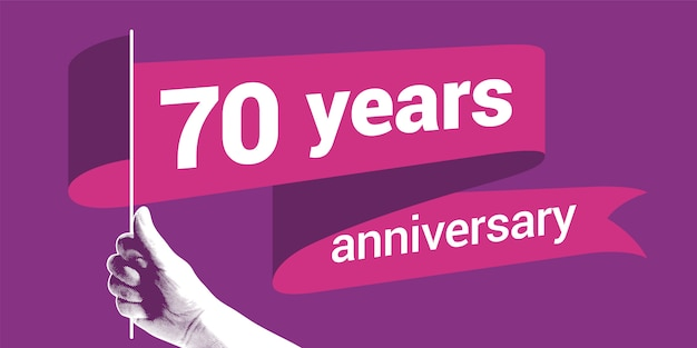 70年周年記念リボンフラグ