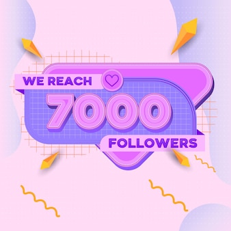 7000 followers square banner modern look