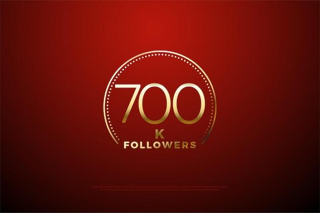 Фон 700k подписчиков с цифрами