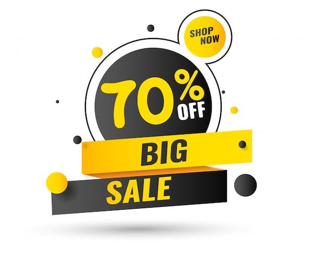 Распродажа, этикетка специального предложения в эти выходные, скидка до 70%.