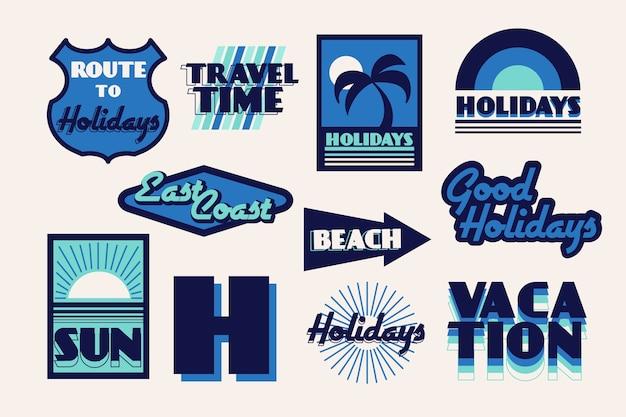 Туристический стикер в стиле 70-х годов