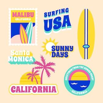 Набор наклеек для путешествий в стиле 70-х годов