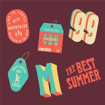 Лучшие летние наклейки в стиле 70-х