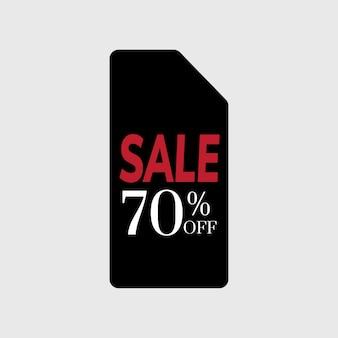 販売バッジベクトルの70%オフ