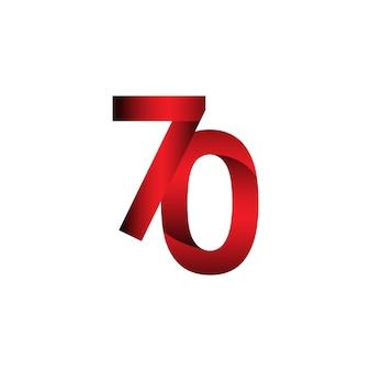 70周年記念ベクトルテンプレートデザインイラストレーション
