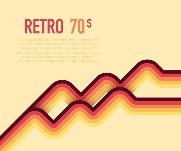 70-х годов, 1970 абстрактный векторный фондовый ретро линии фон. векторная иллюстрация.