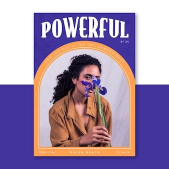 Modello di poster potente estetico in stile anni '70