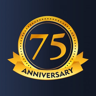 75 years of celebrations vector