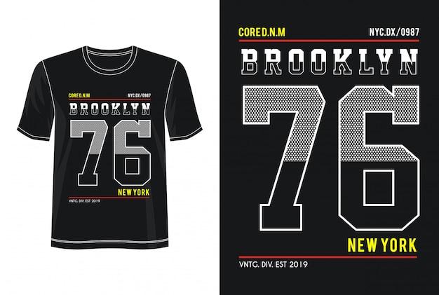 ブルックリン76印刷tシャツのタイポグラフィ