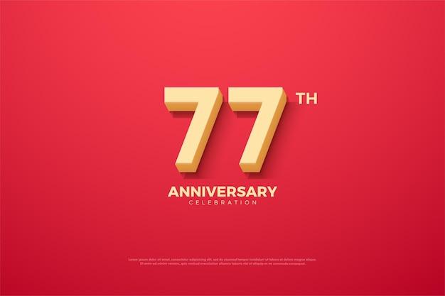 Фон 77-летия с анимированными цифрами