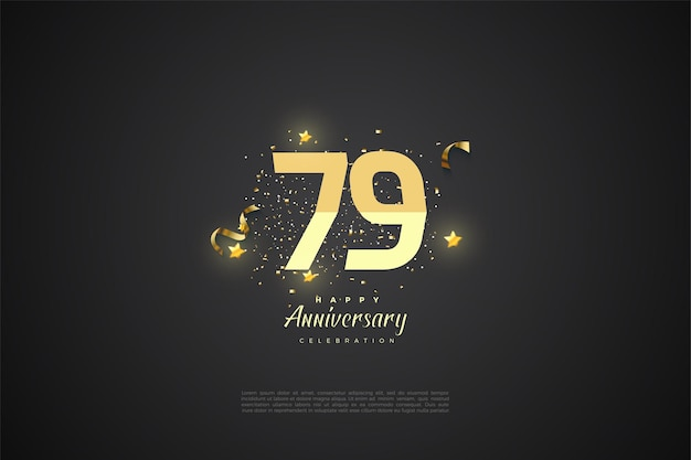 79th anniversary background with graded numbers