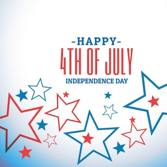7月のお祝いの背景の第四