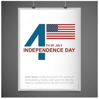 7月アメリカ独立の日のグリーティングカードの第四