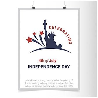 7月の独立記念日の第四を祝います