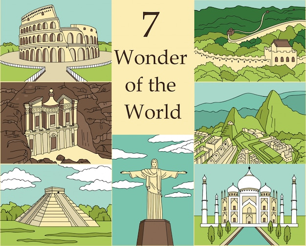 Иллюстрация 7 чудес света