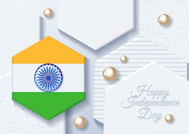 インドの独立記念日。インド。 8月15日