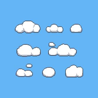 8 비트 구름 벡터 세트