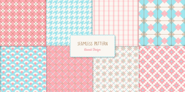 8 cute vector seamless pattern collection